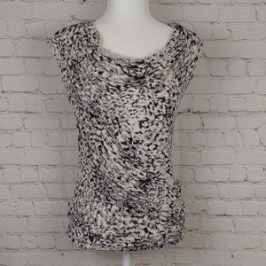 Cabi Animal Print Ruched Front Sleeveless Top
